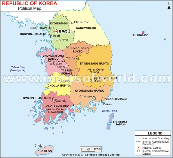 Map on Korea tour guide Map on Korea travel guide